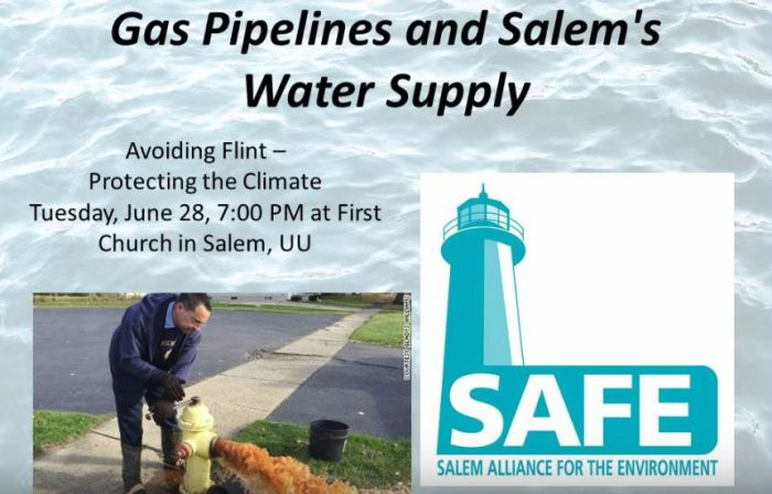 for facebook gas pipelines and Salem's water supply